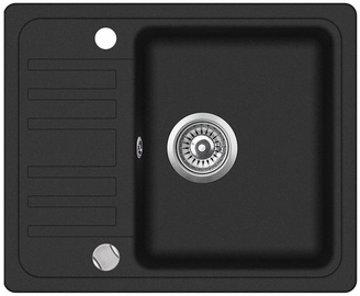 Aquasanita SQ102-601AW Granite Sink 575x460mm Black