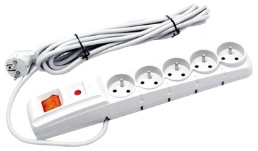 HSK Data Surge Protector 5 Outlet Grey 5m