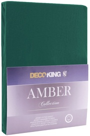 DecoKing Amber Bedsheet 140-160x200 Bottle Green