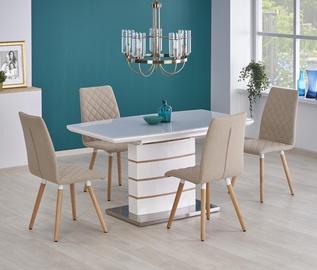 Обеденный стол Halmar Toronto, белый/дубовый, 1400 - 1800x800x760мм