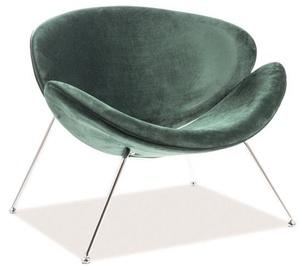 Signal Meble Major Velvet Chair Green/Chrome