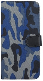 Forever Army Book Case For Samsung Galaxy S8 Plus Dark Blue