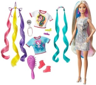 Nukk Mattel Barbie Fantasy Hair With Mermaid & Unicorn Looks GHN04