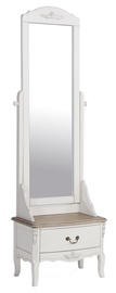 Home4you Elizabeth Dressing Table With Mirror White/Brown