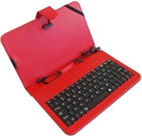 Rebeltec Case And Keyboard With Micro/Mini USB Tablet 7'' Red