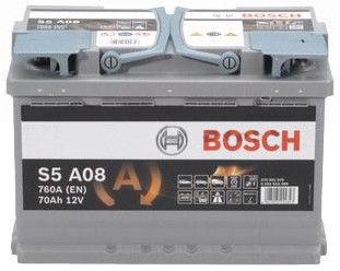 Аккумулятор Bosch AGM S5 A08, 12 В, 70 Ач, 760 а