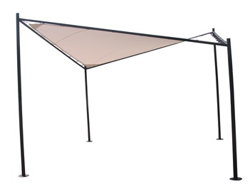 Home4you Sun Sail Garden Gazebo 3x3m Beige