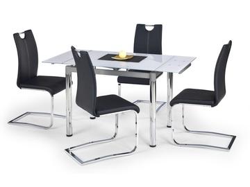 Обеденный стол Halmar Logan 2, белый/хромовый, 960x700x750мм