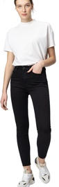 Audimas Womens Skinny Fit Stretch Denim Pants Black 33