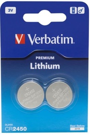 Verbatim Lithium Battery 3V CR2450 2pcs