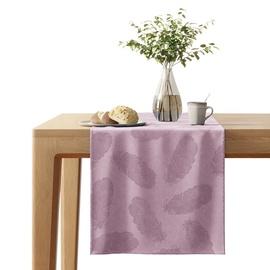 AmeliaHome Velvet AH Tablecloth Peacock Lilac 40x140cm