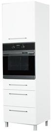 Кухонный шкаф Bodzio Loara Oven Left White, 600x590x2070 мм
