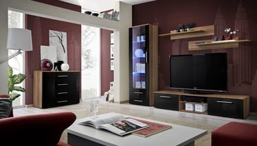 ASM Galino B Wall Unit Plum/Black Gloss