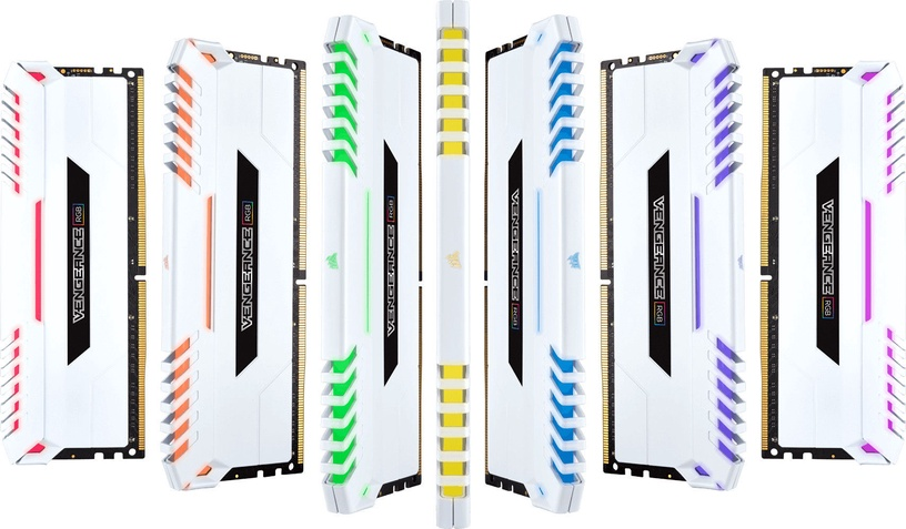 Corsair Vengeance RGB LED White 32GB 3000MHz CL16 DDR4 KIT OF 4 CMR32GX4M4C3000C16W