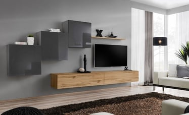 ASM Switch X Wall Unit Graphite/Wotan Oak