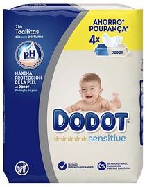 Niisked salvrätikud Dodot Sensitive, 216 tk