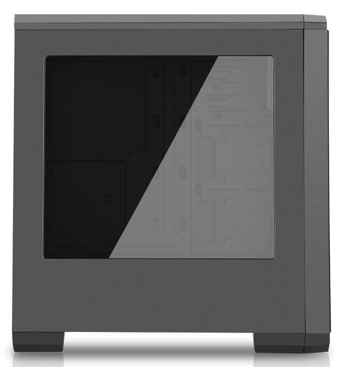 Akyga Midi Tower ATX Case AKY012BK Plexi Window