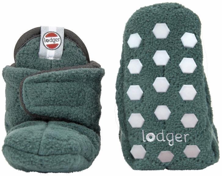 Lodger Fleece Booties BotAnimal Sage 12-18m