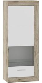 Секция Tuckano Ultra Wit 53, белый/дубовый, 53.1x33.3x132 см
