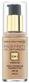 Max Factor Face Finity All Day Flawless 3in1 Foundation 30ml 55
