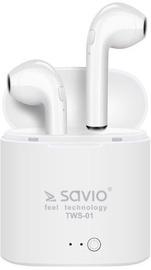 Kõrvaklapid SAVIO TWS-01 Airpods White, juhtmevabad