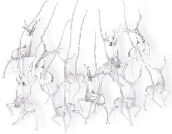 DecoKing LED Lights Reindeers Warm White 1.65m
