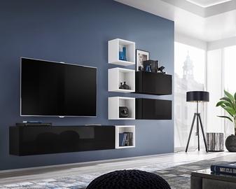 ASM Blox VII Living Room Wall Unit Set Black/White