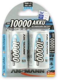 Ansmann NiMH Rechargeable Battery 5030642 2xD 10000mAh