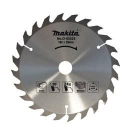 Makita D-03333 Circular Saw Blade 165x20x2mm 24t