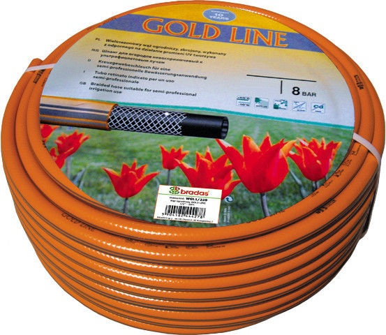 Bradas Gold Line Garden Hose Orange 3/4'' 50m