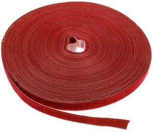 Label The Cable PRO Roll Dual Velcro Roll 25m Red