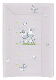 Ceba Baby Hard Changing Mat With A Bolster 50x70cm Zebra Grey