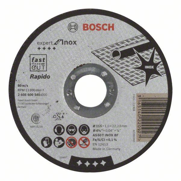 Lõikeketas roostevaba terasele Bosch, 115 x 1 x 22,23 mm