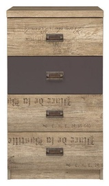 Kummut Black Red White Malcolm III Chest Brown