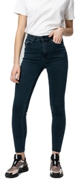Audimas Womens Skinny Fit Stretch Denim Pants Petrol 31