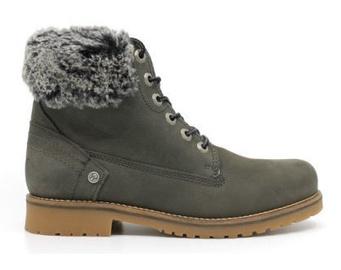Wrangler Creek Alaska Fur Leather Winter Boots Grey 37
