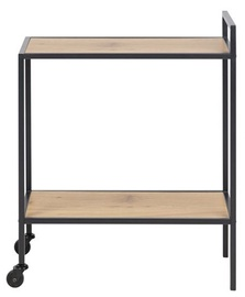 Home4you Seaford Serving Table 60x30x75cm Oak Black