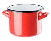 Galicja Enameled Steel Pot Red 4.4l
