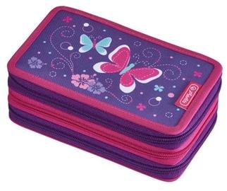 Herlitz 3 Piece Pencil Case Butterfly