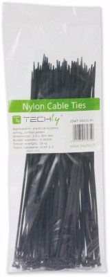 Techly Nylon Cable Tie 140x3.6mm 100pcs Black