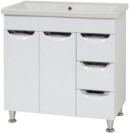 Sanservis Laura 80 2D with Basin White 80x79.7x45cm