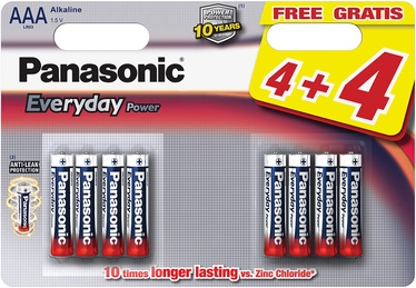 Panasonic LR03EPS Everyday Power 4+4 x AAA Batteries