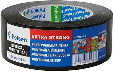 Folsen 0510 Duct tape Universal Black 48mm x 50m