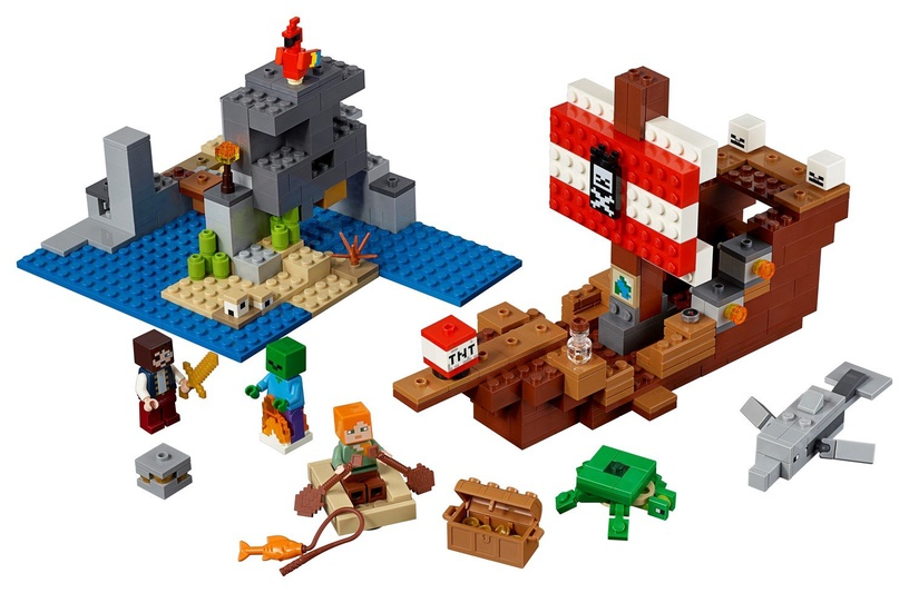 Konstruktor Lego Minecraft The Pirate Ship Adventure 21152