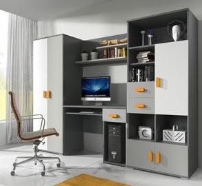 Комплект мебели для детской комнаты Idzczak Meble Tom 2 Grey/White/Orange