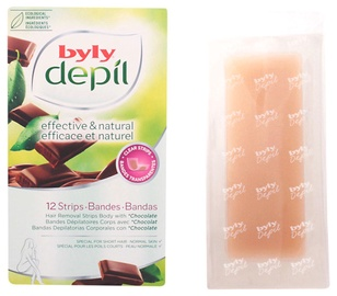 Byly Depil Body Hair Removal Strips 12pcs Chocolate