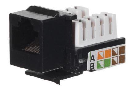 Netrack Keystone Jack Module UTP Cat 5e RJ45 LSA Black