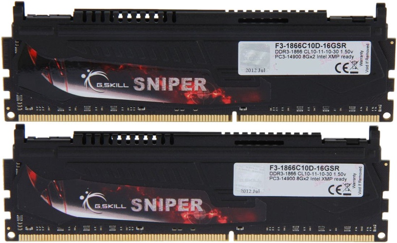 G.SKILL Sniper 16GB 1866MHz CL10 DDR3 KIT OF 2 F3-1866C10D-16GSR