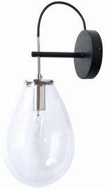 Light Prestige Fondi Wall Lamp 40W E14 Black/Transparent