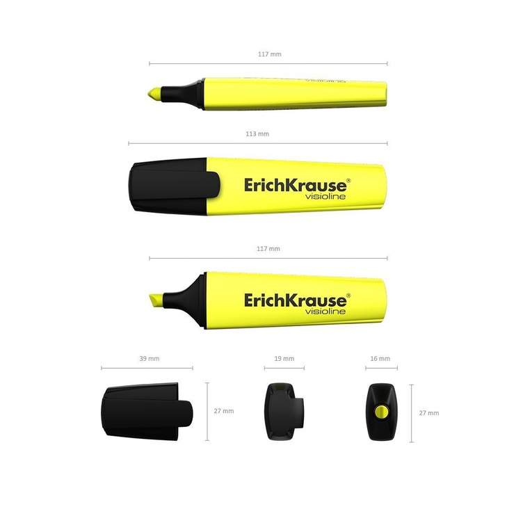 ErichKrause Visioline Highlighter V-12 Yellow